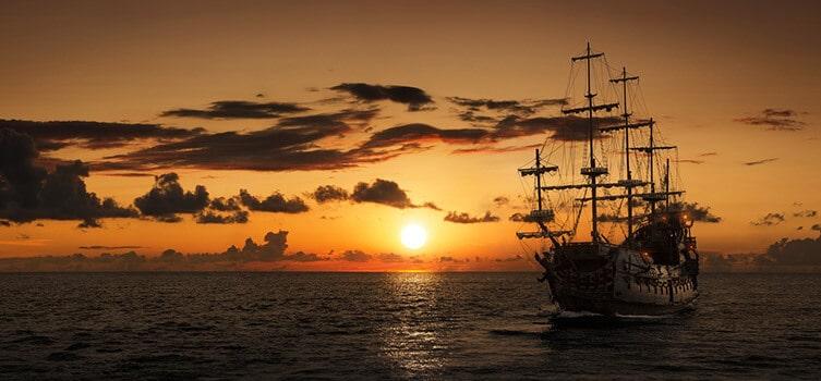Schiff im Aufbruch