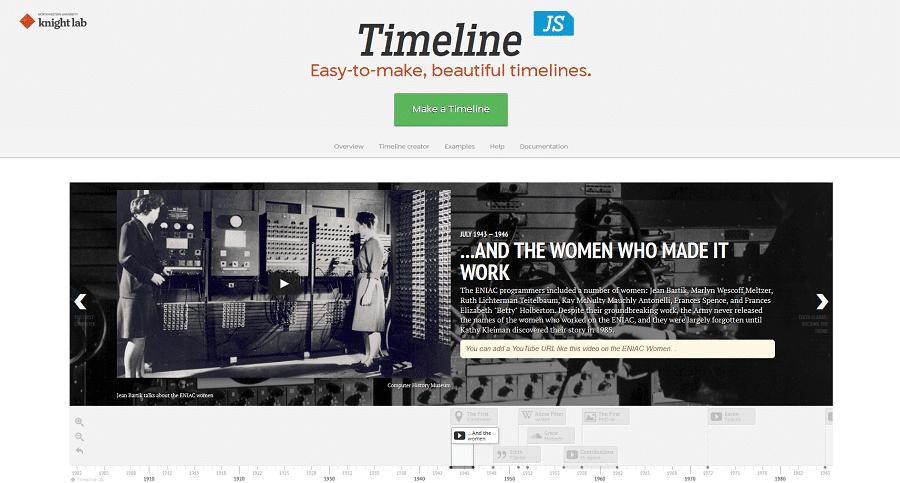 Mit TimelineJS Timelines erstellen
