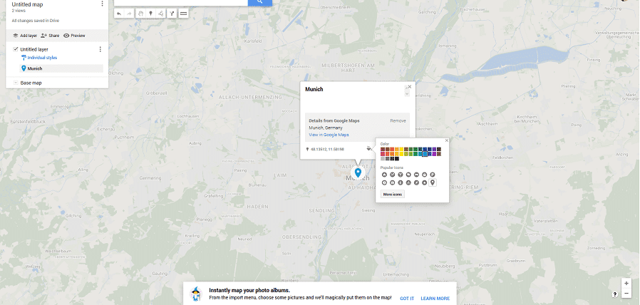 Mit My Maps eigene Maps erstellen.