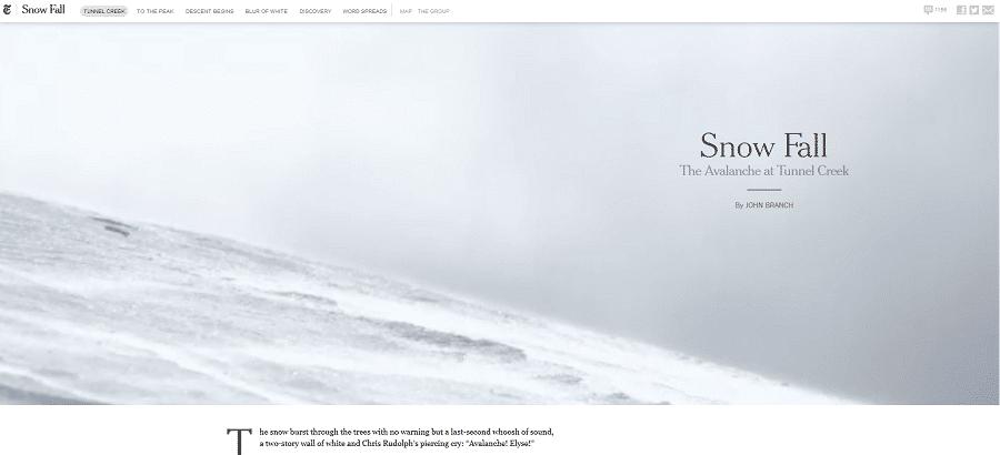 Snowfall von The New York Times