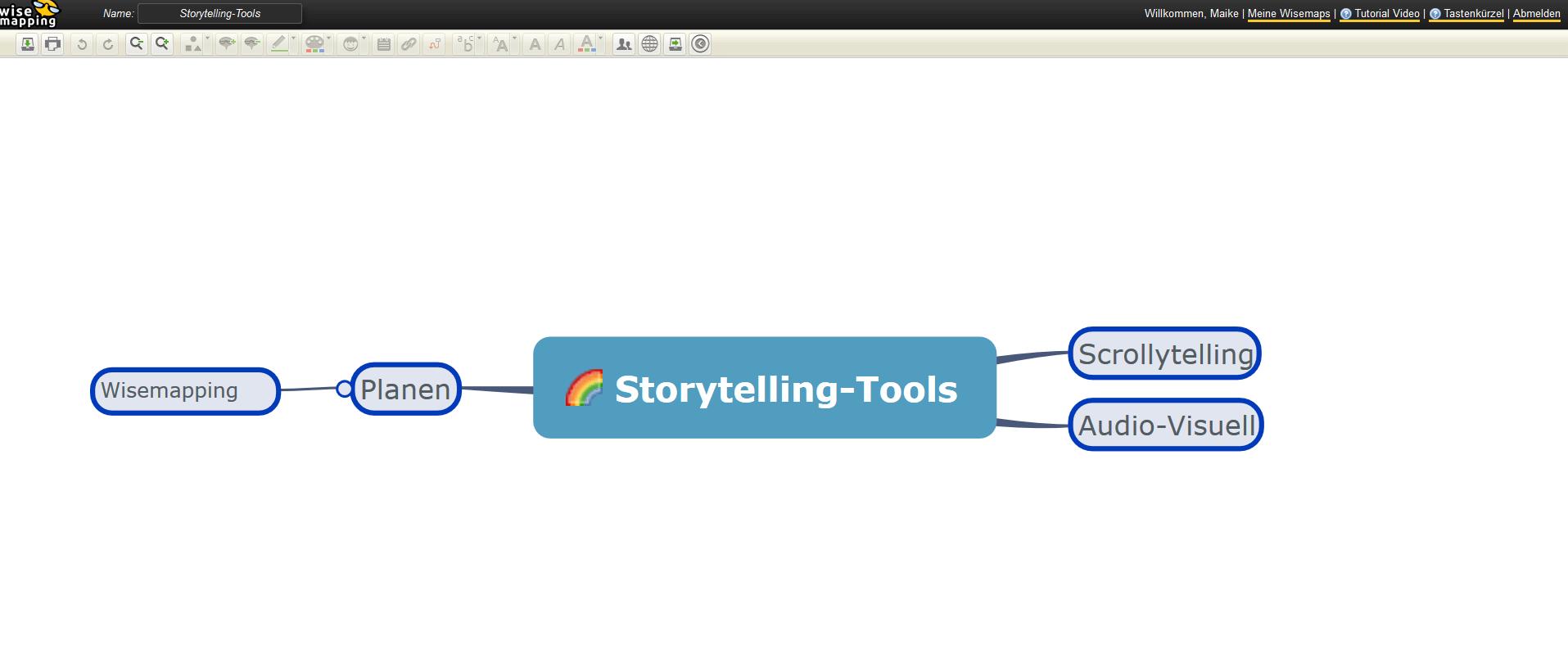 Mindmaps mit Wisemapping erstellen