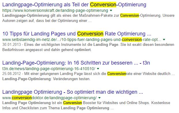 """suchergebnisse für """"landingpage-optimierung"""""""