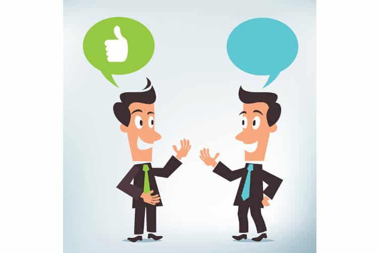 Über Social-Media-Netzwerke sind Personen miteinander verknüpft und erhalten Informationen darüber, mit welchen Unternehmen ihre Kontakte interagieren. Im besten Fall sehen sie die positive Bewertungen eines Kontaktes zu einem Produkt, an dem sie selbst interessiert sind.