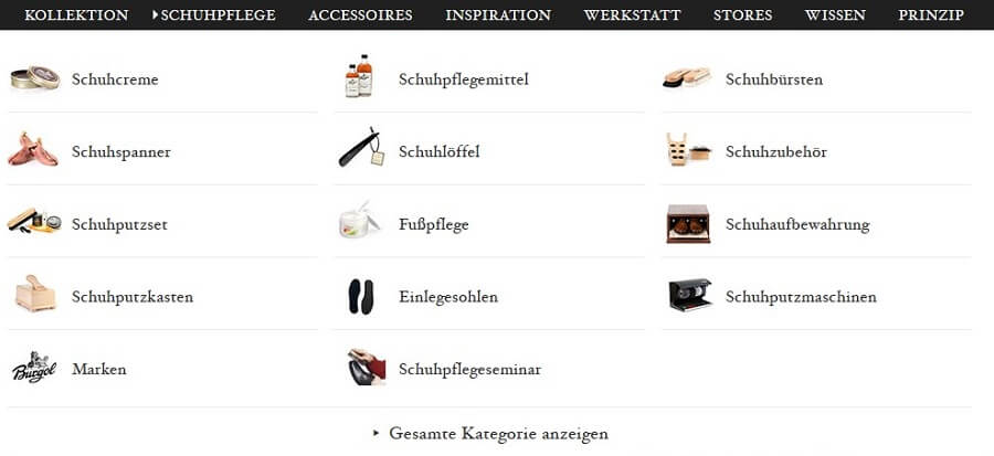 website-navigation mit bildern
