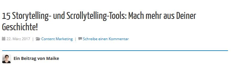Storytelling- und Scrollytelling-Tools - Zahlen in Überschriften