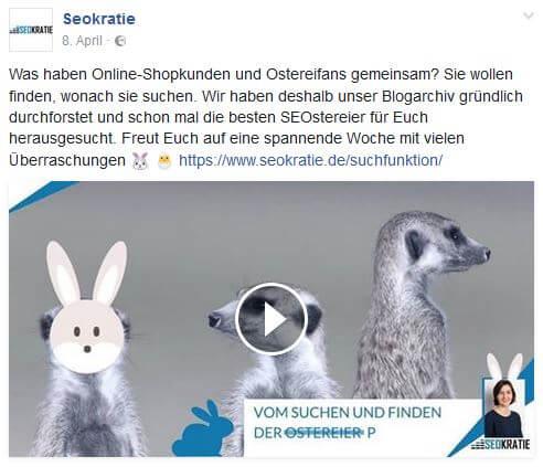 Wir haben über Ostern einige Artikel nochmals auf Facebook gepostet, wollten unsere Nutzer aber nicht mit den gleichen oder ähnlichen Facebook-Beiträgen langweilen.