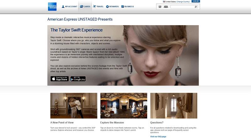 Die Taylor Swift Experience von American Express