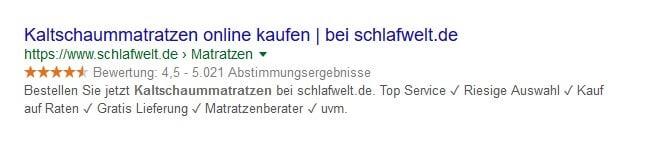 Produktbewertungen in den Google-Suchergebnissen anzeigen lassen