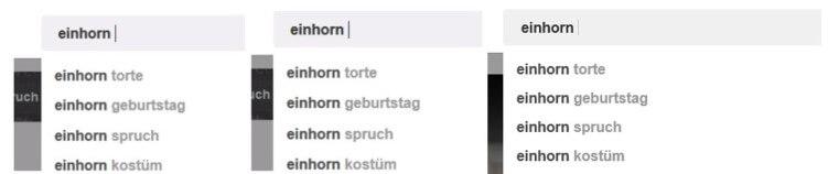 Vorgeschlagene Wörter für Einhorn