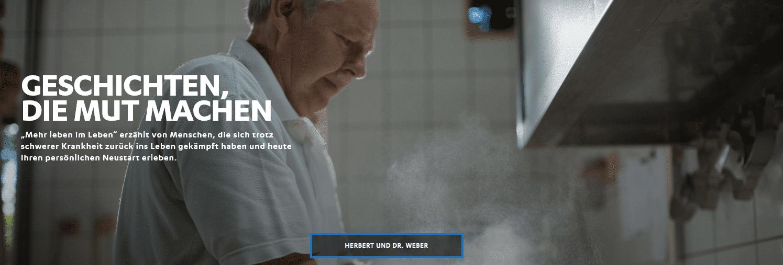 Storytelling-Kampagne von Janssen mit dem Titel mehr leben im Leben