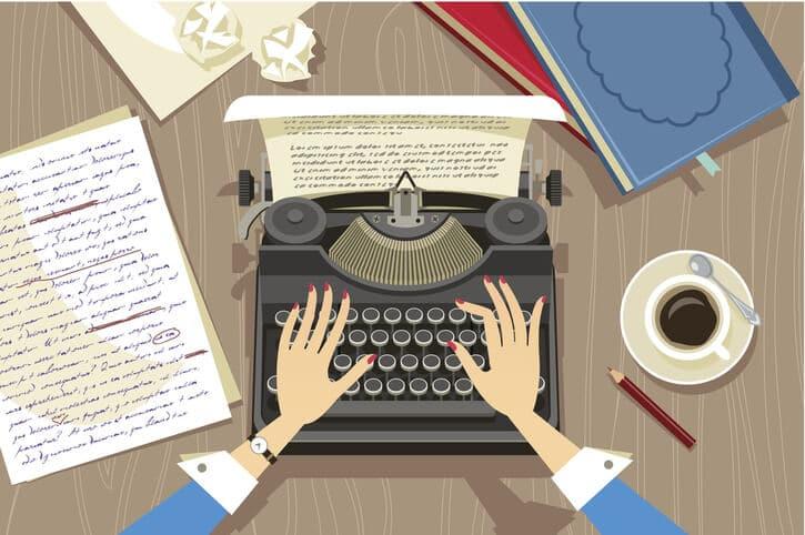 Geschichte schreiben mit der Schreibmaschine