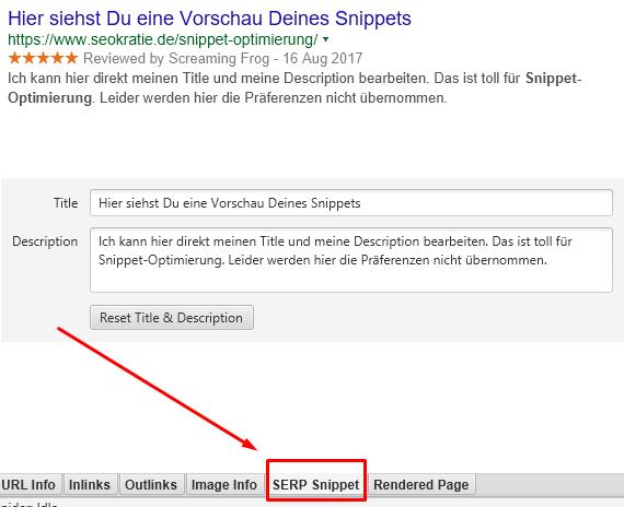 Snippet-Vorschau