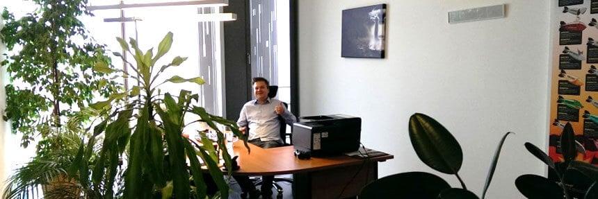 Julian im alten Büro