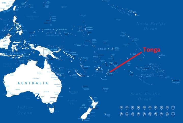 Lage von Tonga