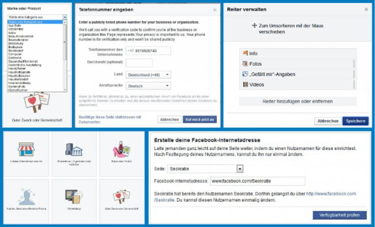 Facebook Seiteninformationen