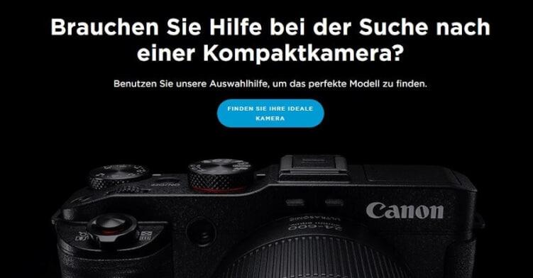 Hilfestellung für den Nutzer bei Canon