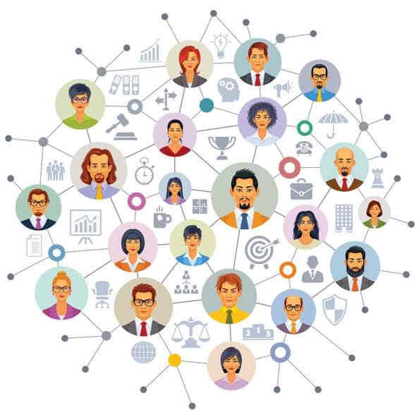 Digitale soziale Netwerke: Personen und Interessen