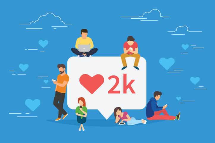 Social Media Interaktionen LIkes