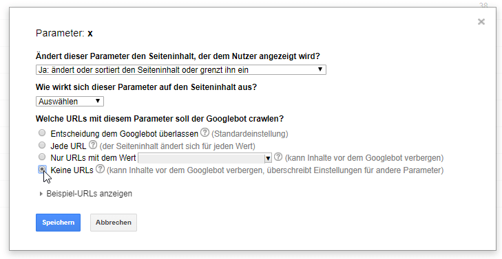 parameterbehandlung in google search console