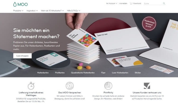 visuelle Hierarchie im Online Shop