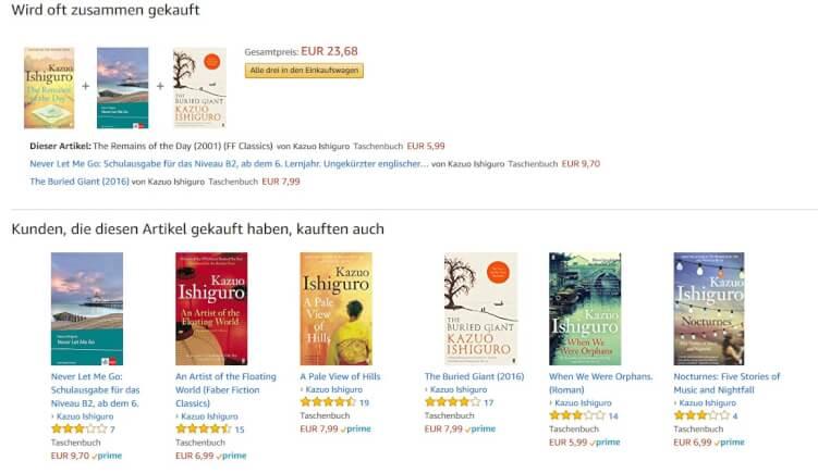 produktempfehlungen bei amazon.de