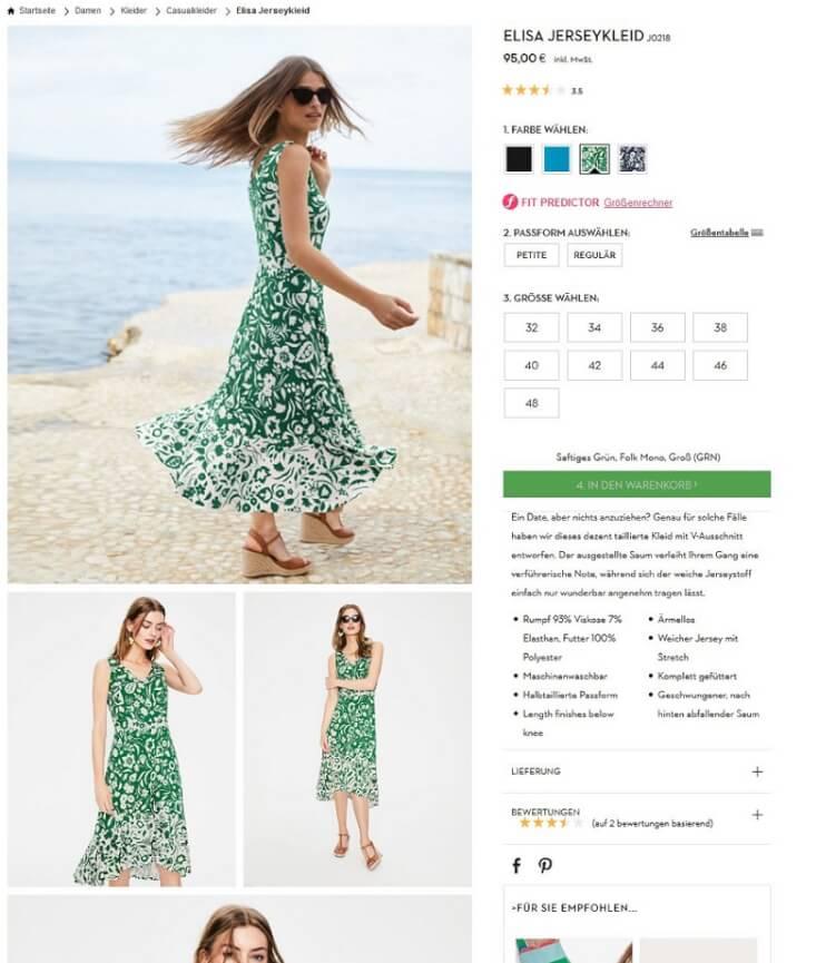 Produktbilder in einem Online Shop