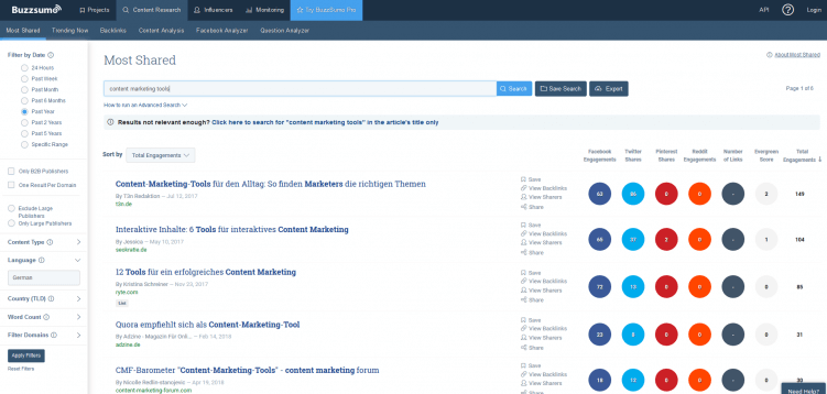 buzzsumo-content-marketing-tool