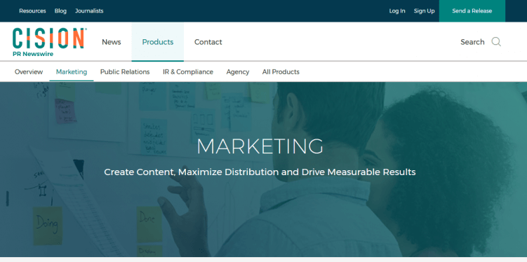 cision-prnewswire-content-marketing-tool