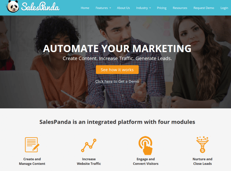 sales panda-content-marketing-tool