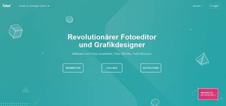 Grafiktool zur Bildbearbeitung: Fotor