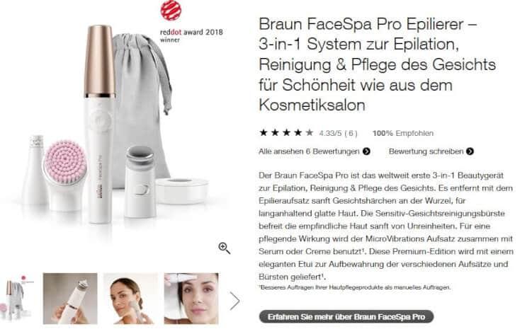 Produktbeschreibung von braun.de