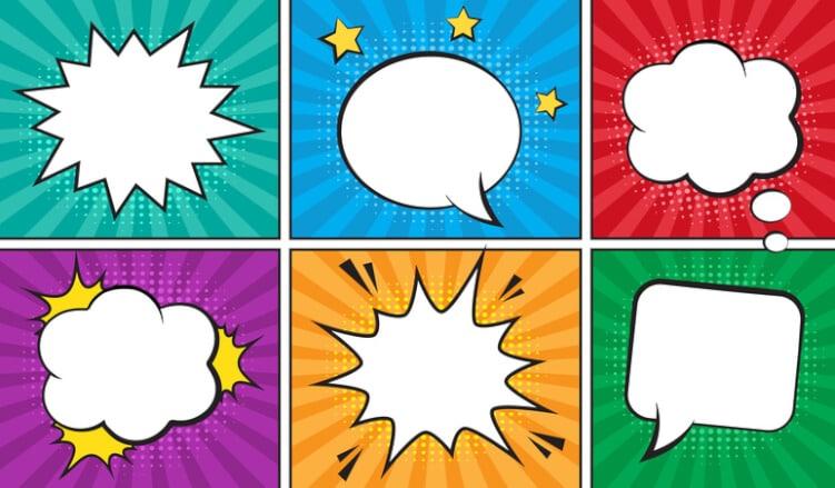 comic-sprech-und-gedankenblasen