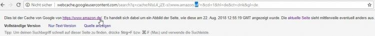 google cache amazon.at