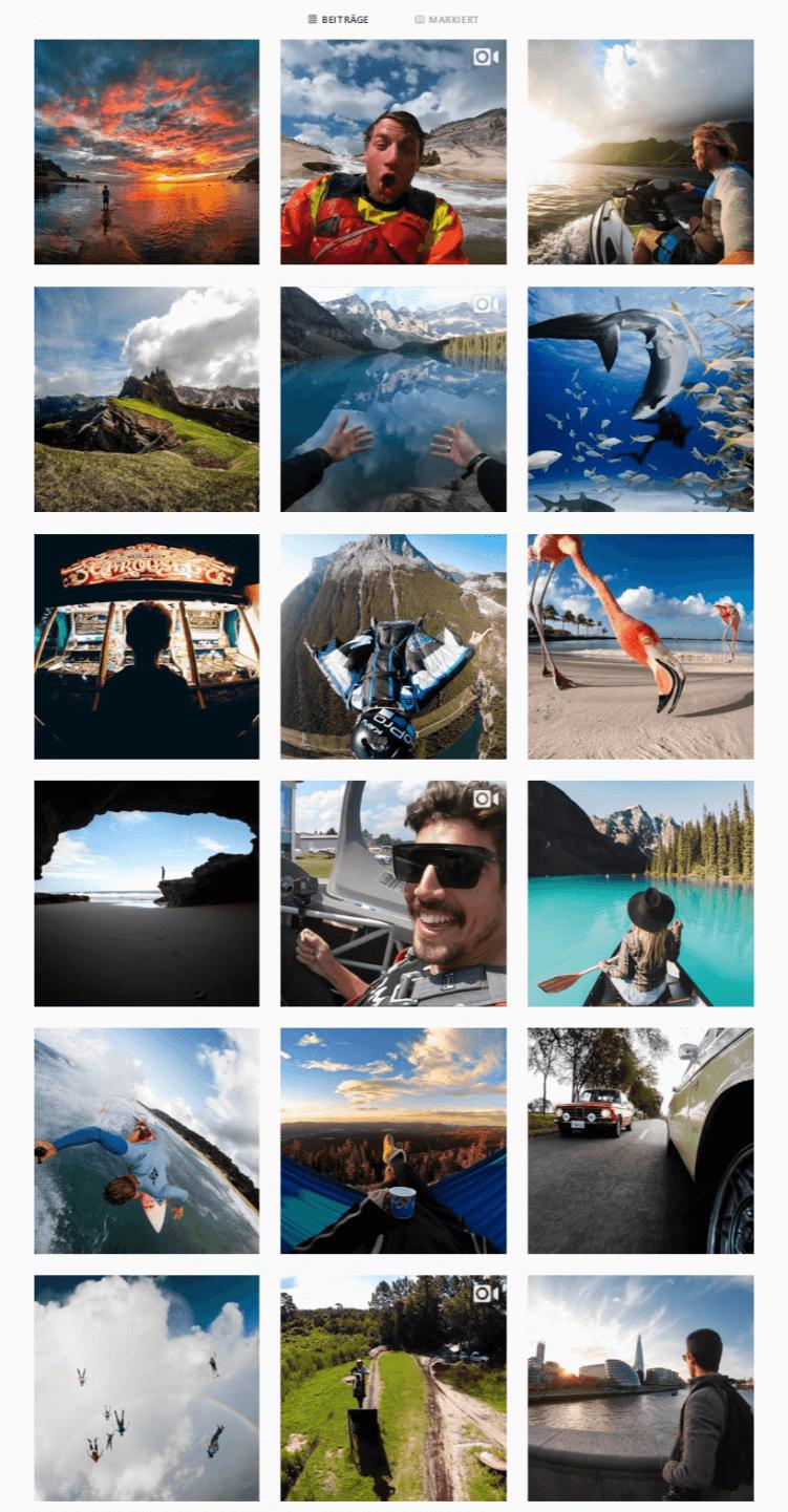 Instagram-Profil von GoPro