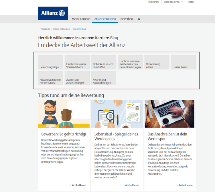 Karriere-Blog der Allianz