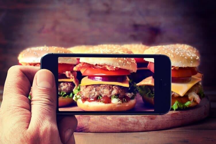 Smartphonefoto von Burgern