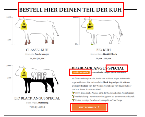 Screenshot Angebote kaufnekuh.de