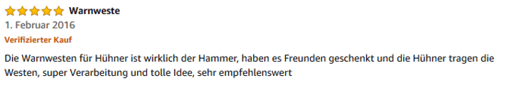 Screenshot Kundenbewertung amazon