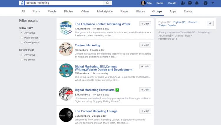 facebook gruppen zur themenfindung