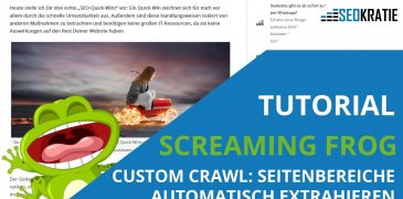 Video: Screaming Frog Custom Crawl: Definierte Seitenbereiche automatisch extrahieren