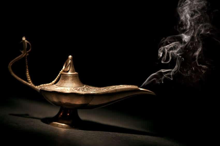Die Wunschlampe steht exemplarisch für die Wünsche für die Kreativitätstechnik.