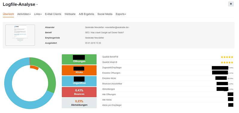 Screenshot CleverReach-Reports