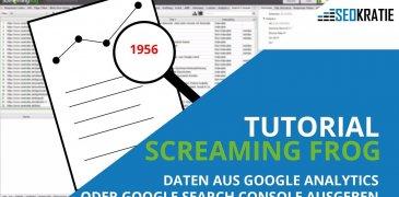 Video: Screaming Frog Tutorial – Daten aus Google Analytics oder Google Search Console ausgeben