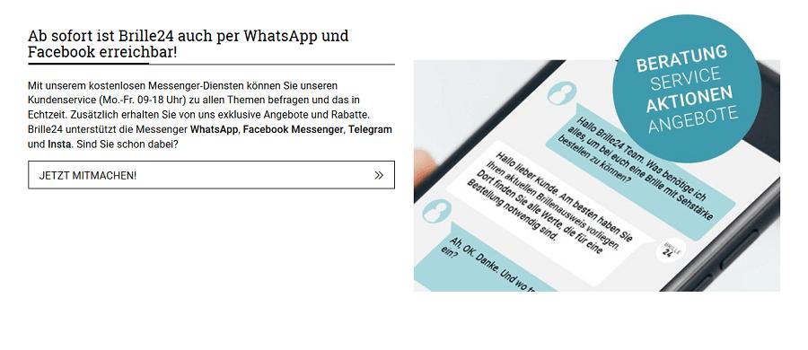 WhatsApp-Kundenservice anhand des Beispiels Brille24