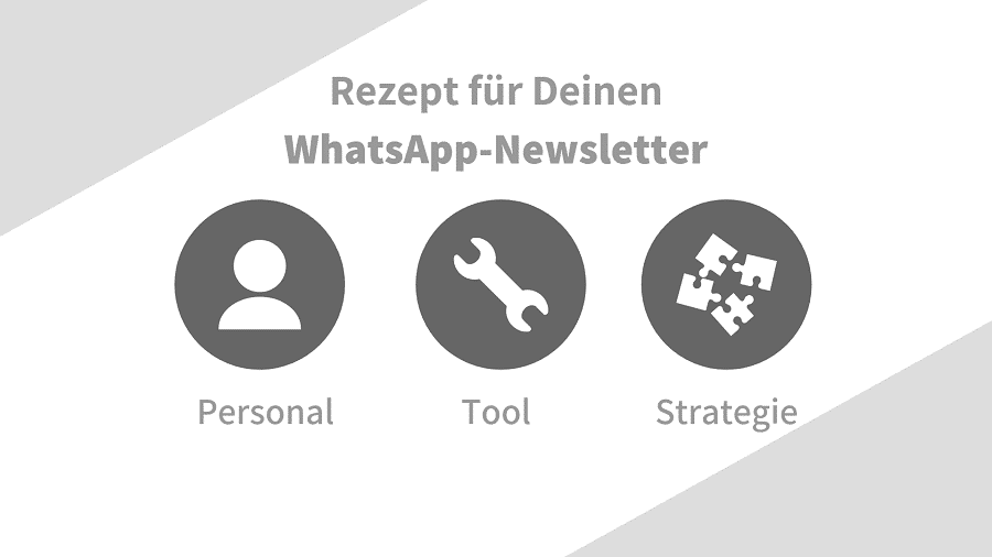 Grundzutaten für WhatsApp-Newsletter