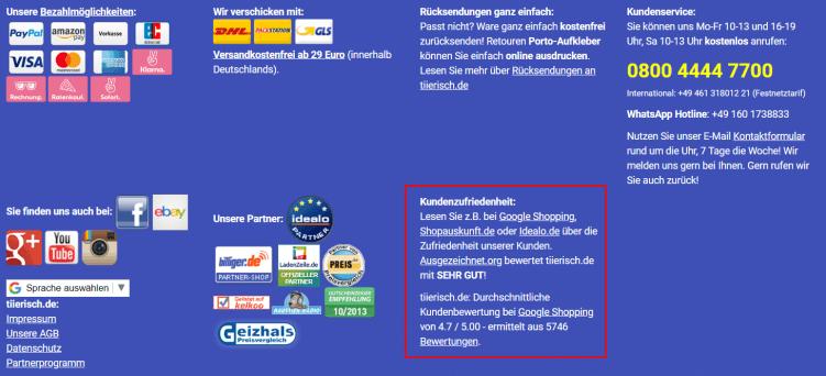 Footer tiierisch.de