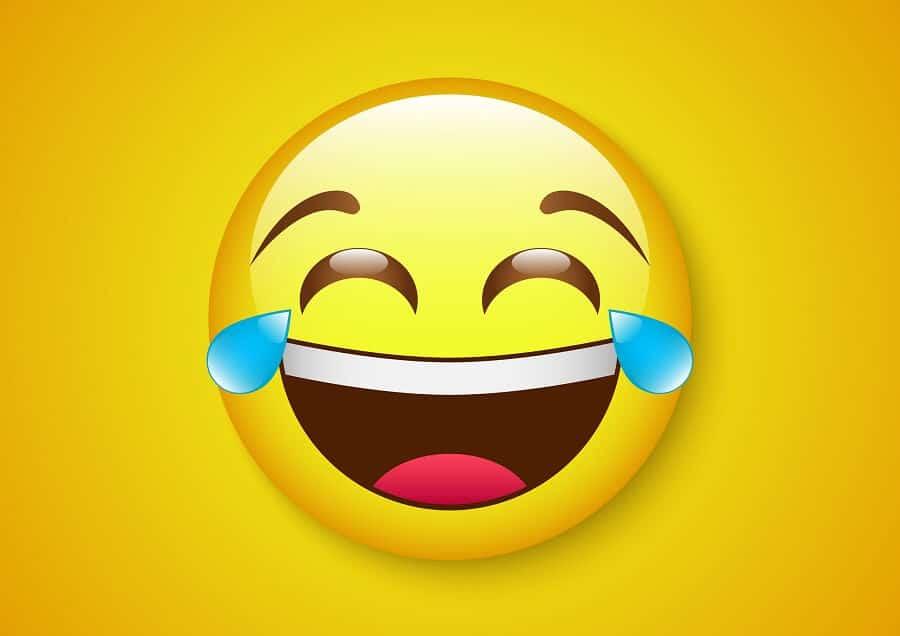 Emoji mit Freudentränen
