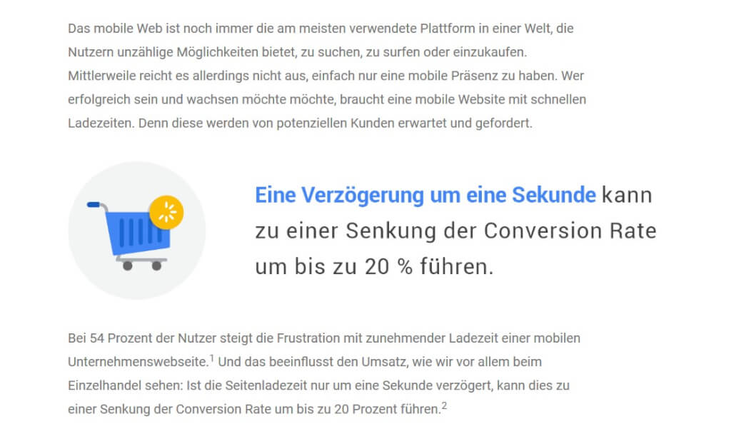 Screenshot von UX-Tipps auf thinkwithgoogle.com