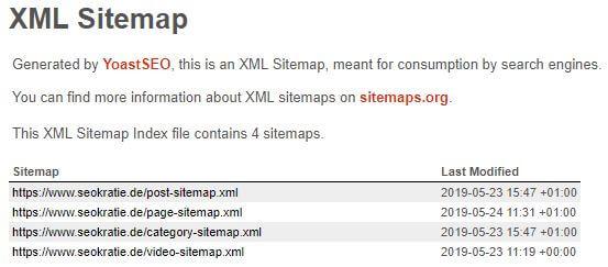 XML-Sitemap von Seokratie