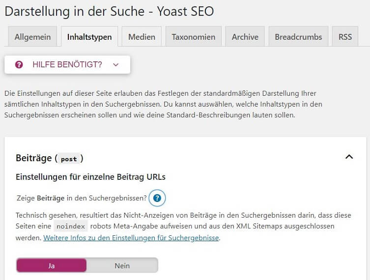 XML-Sitemap erstellen mit Yoast